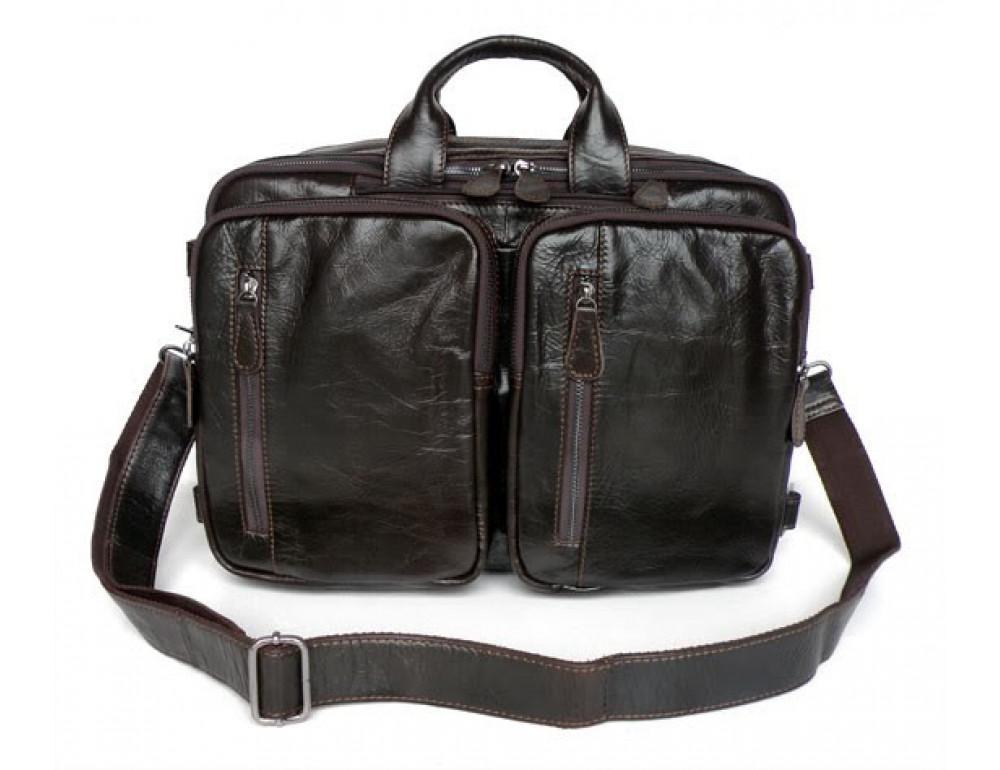 Кожаная сумка-рюкзак JASPER & MAINE 7014Q-2 - Фото № 3