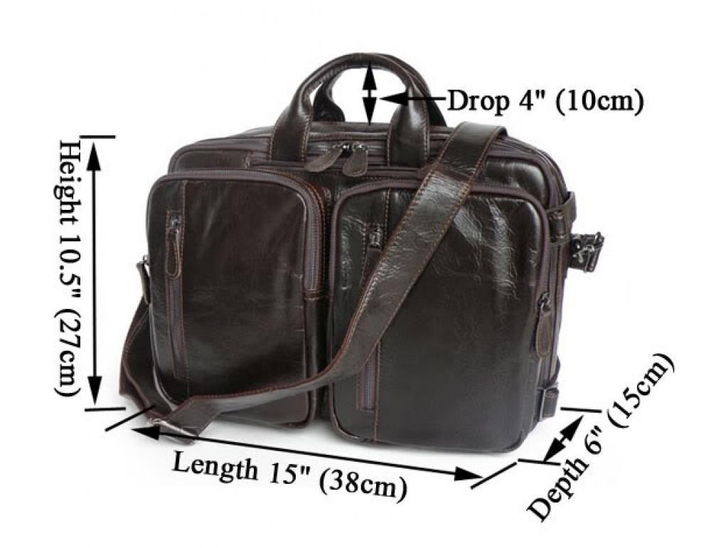 Кожаная сумка-рюкзак JASPER & MAINE 7014Q-2 - Фото № 4