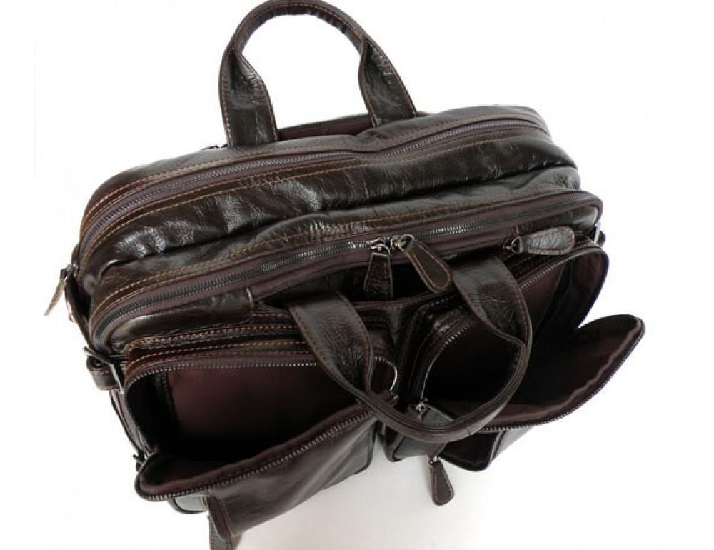 Кожаная сумка-рюкзак JASPER & MAINE 7014Q-2 - Фото № 7
