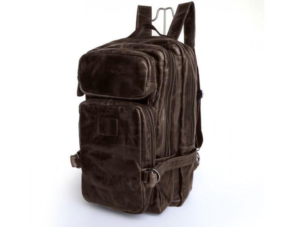 Вместительный городской рюкзак из кожи TIDING BAG 7048C