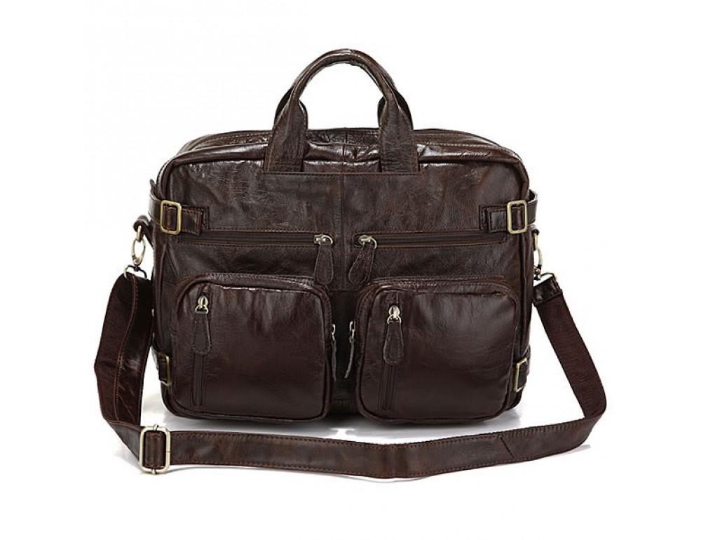 Кожаная сумка-рюкзак JASPER & MAINE rb7061C - Фото № 3