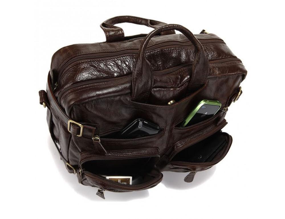 Кожаная сумка-рюкзак JASPER & MAINE rb7061C - Фото № 7