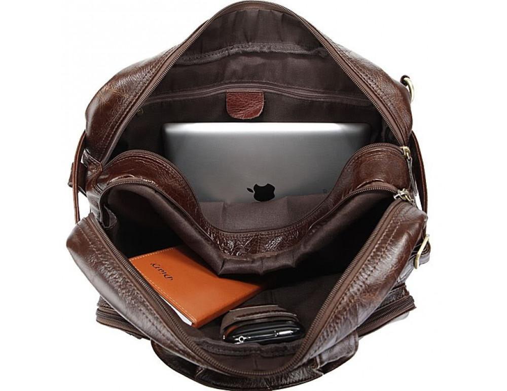 Кожаная сумка-рюкзак JASPER & MAINE rb7061C - Фото № 6