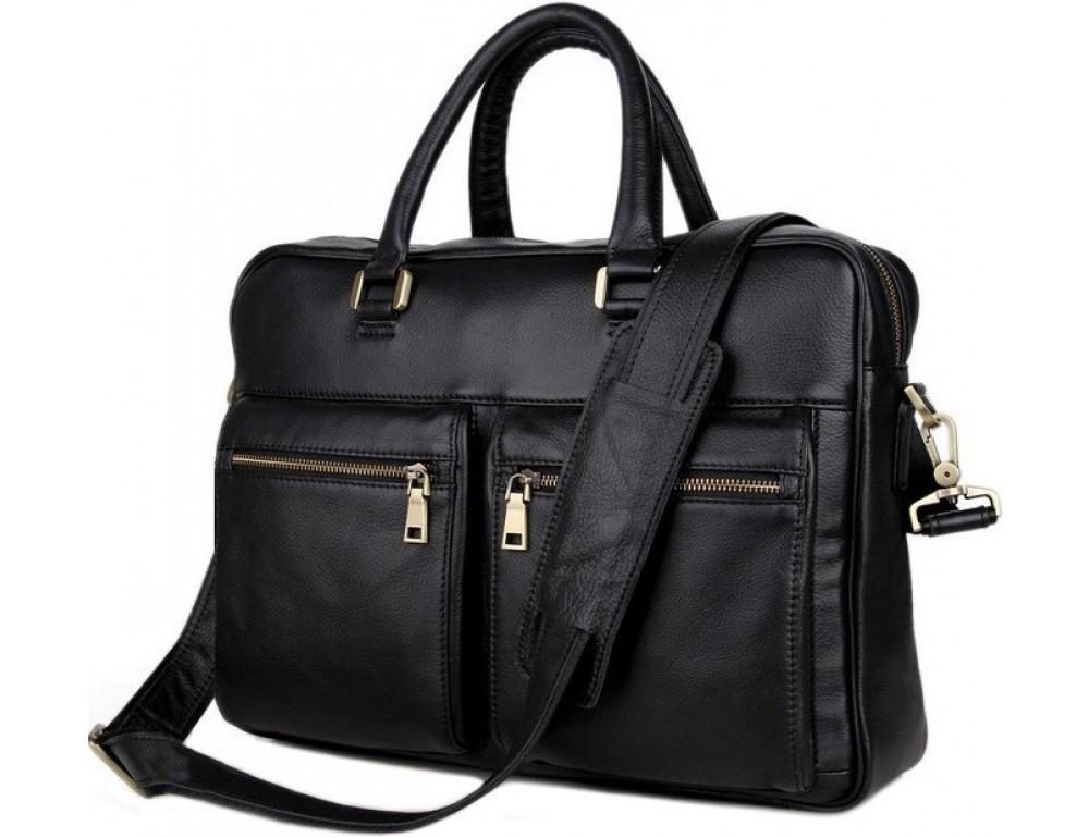Мужская кожаная сумка через плечо TIDING BAG 7270A