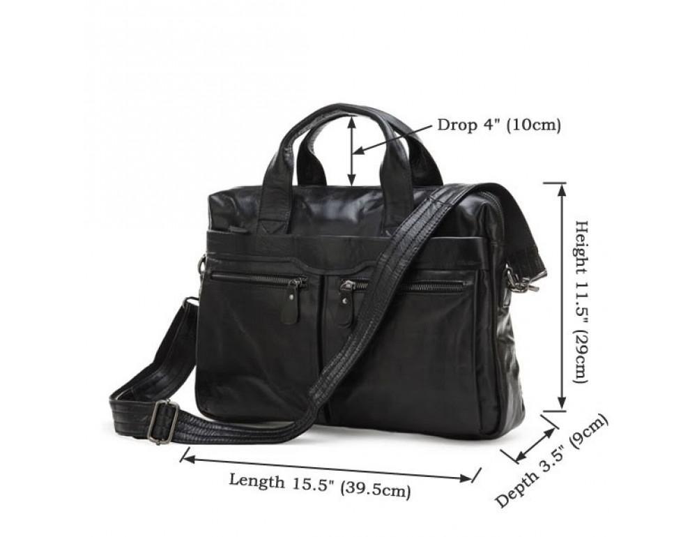 Шкіряна сумка для ноутбука JASPER & MAINE 7122A - Фотографія № 4