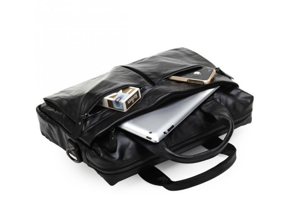 Шкіряна сумка для ноутбука JASPER & MAINE 7122A - Фотографія № 6