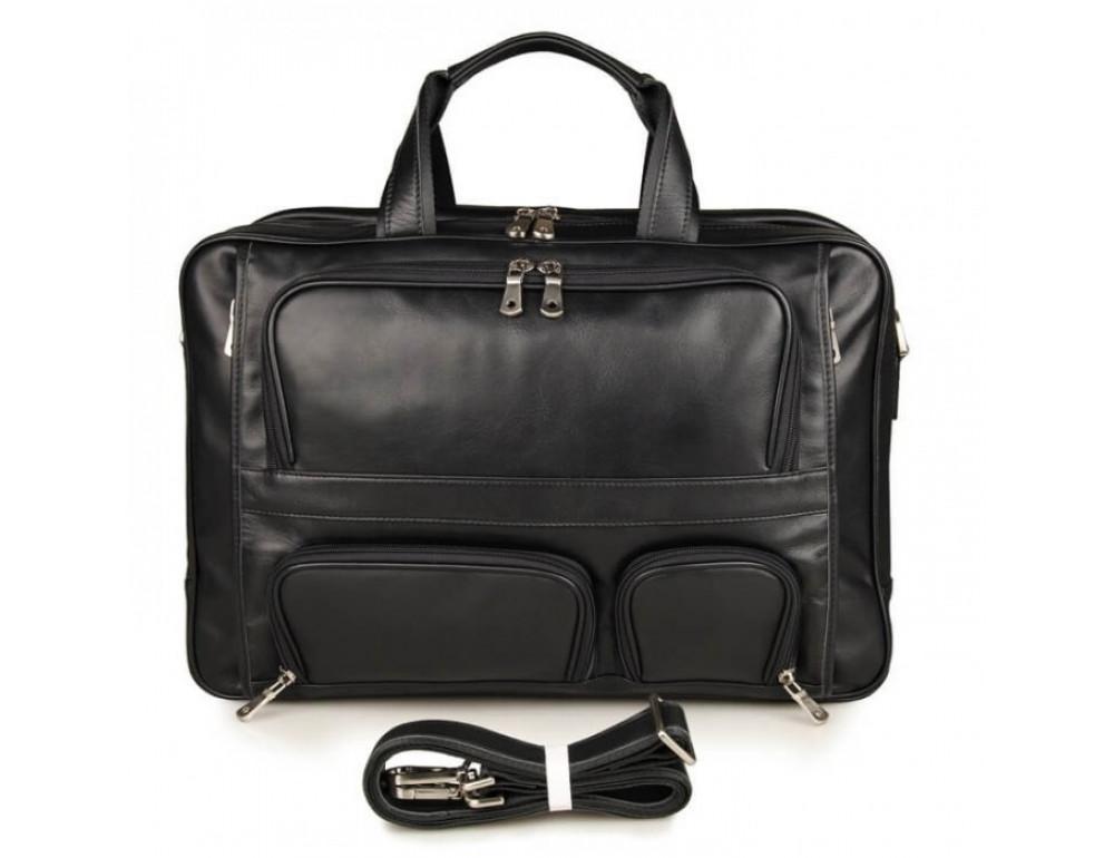 Чоловіча шкіряна сумка TIDING BAG 7289A - Фотографія № 4