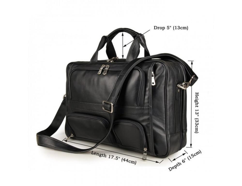 Чоловіча шкіряна сумка TIDING BAG 7289A - Фотографія № 11