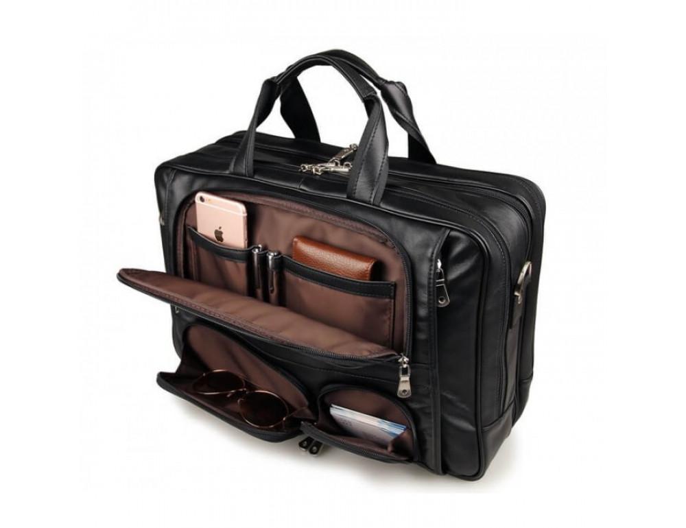 Чоловіча шкіряна сумка TIDING BAG 7289A - Фотографія № 7