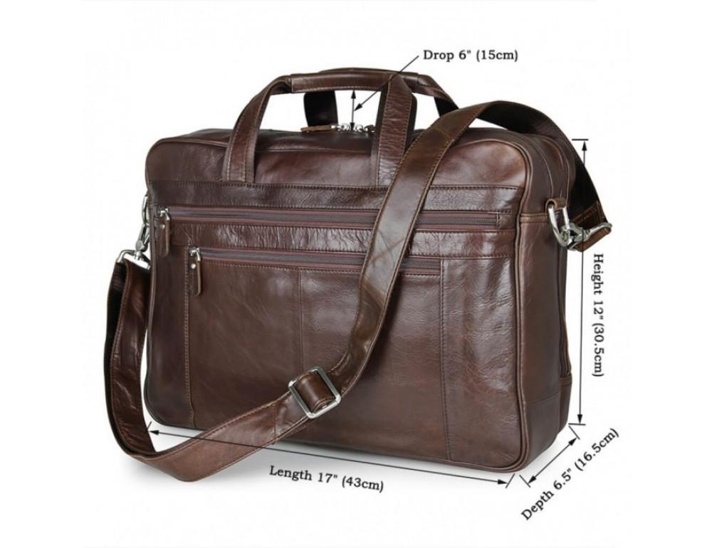 Чоловіча шкіряна сумка JASPER & MAINE 7319C - Фотографія № 5