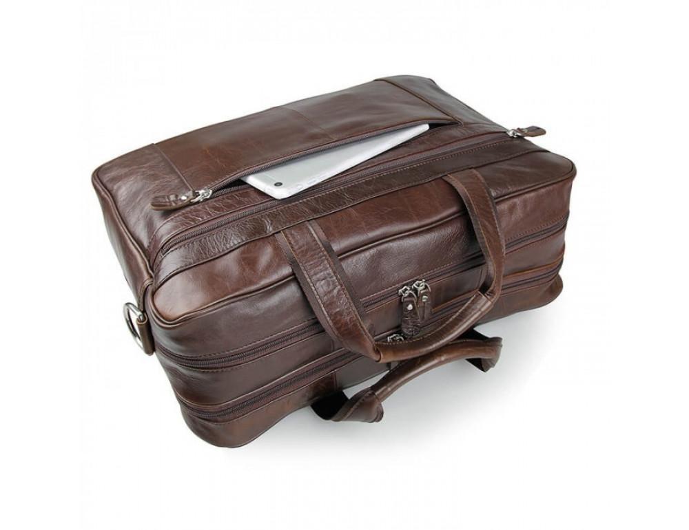 Чоловіча шкіряна сумка JASPER & MAINE 7319C - Фотографія № 6