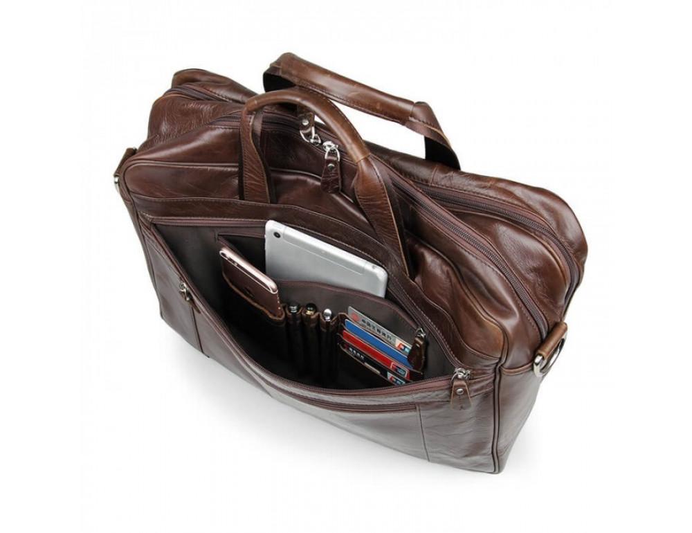 Чоловіча шкіряна сумка JASPER & MAINE 7319C - Фотографія № 8