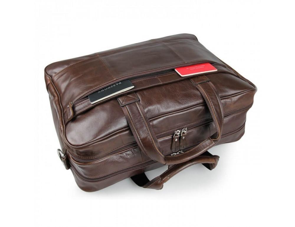 Чоловіча шкіряна сумка JASPER & MAINE 7319C - Фотографія № 11