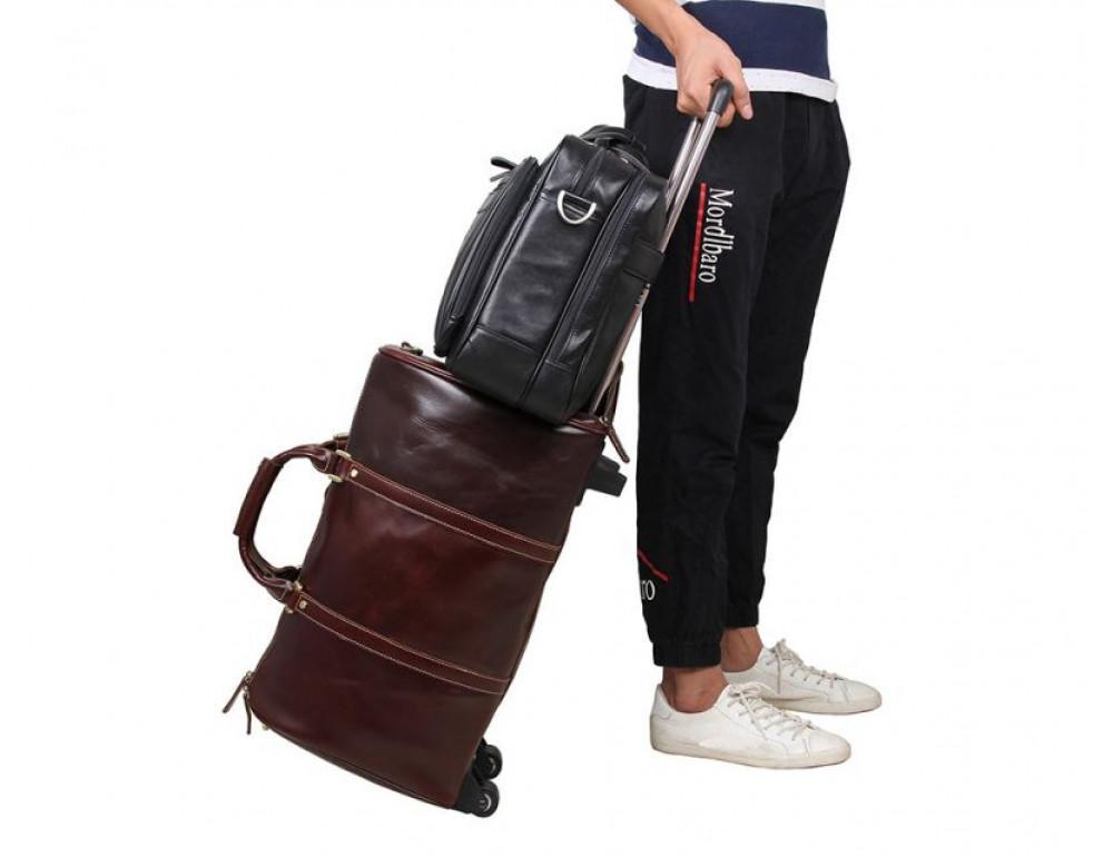 Мужская кожаная сумка TIDING BAG 7367A - Фото № 9