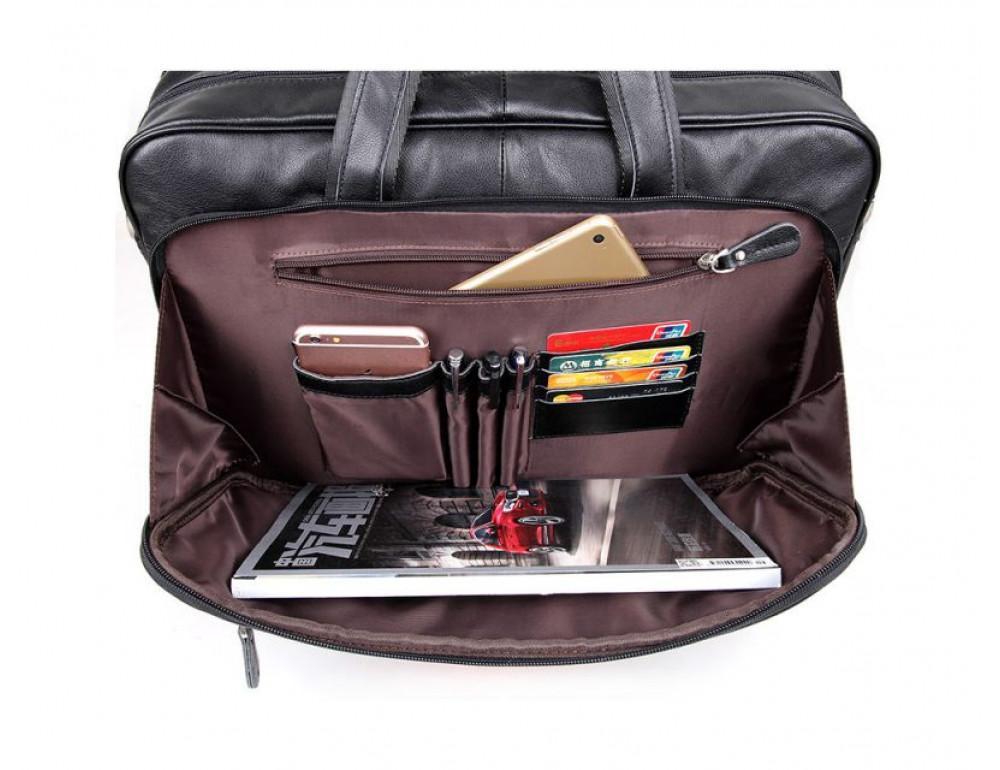 Мужская кожаная сумка TIDING BAG 7367A - Фото № 11