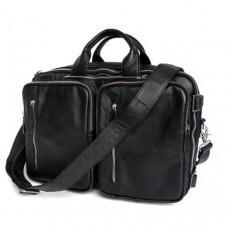 Мужская кожаная сумка - рюкзак JASPER-MAINE 7014A