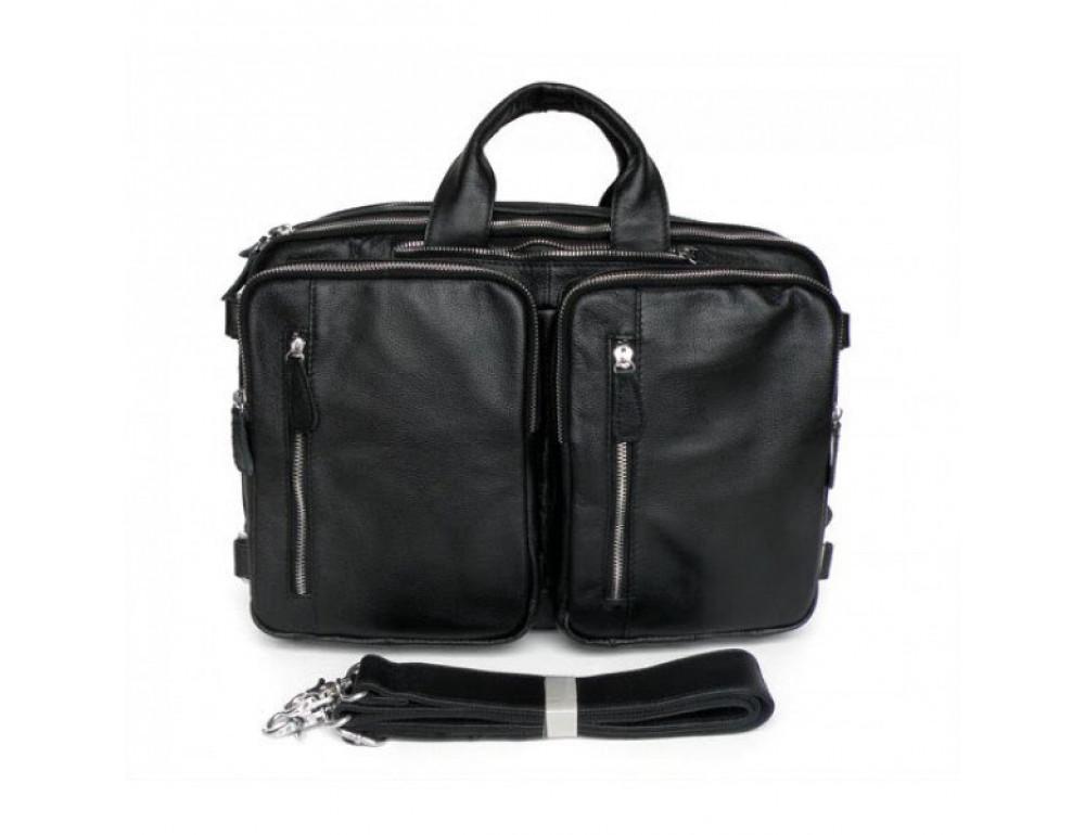 Мужская кожаная сумка - рюкзак JASPER-MAINE 7014A - Фото № 2