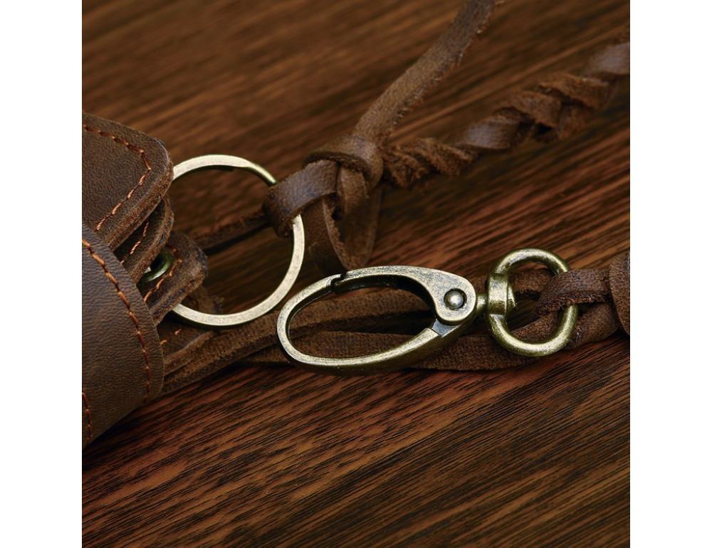 Вінтажний чоловічий гаманець TIDING BAG 8031R коричневий - Фотографія № 3