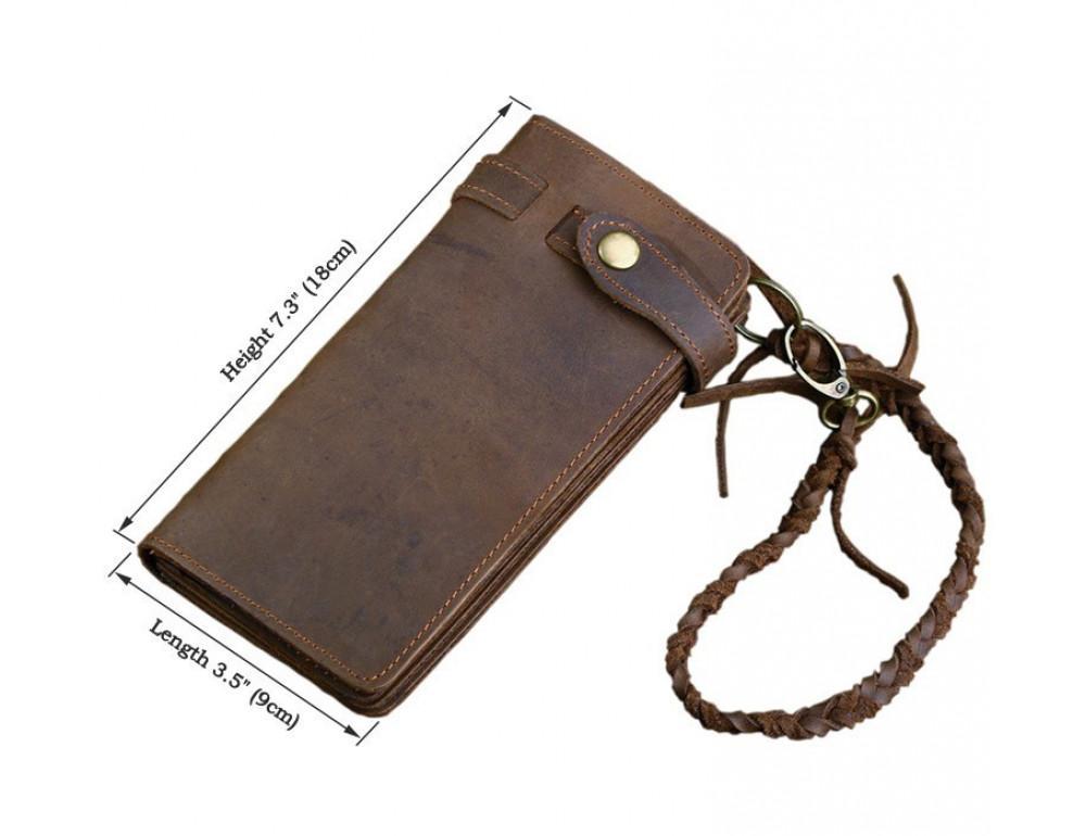 Вінтажний чоловічий гаманець TIDING BAG 8031R коричневий - Фотографія № 10