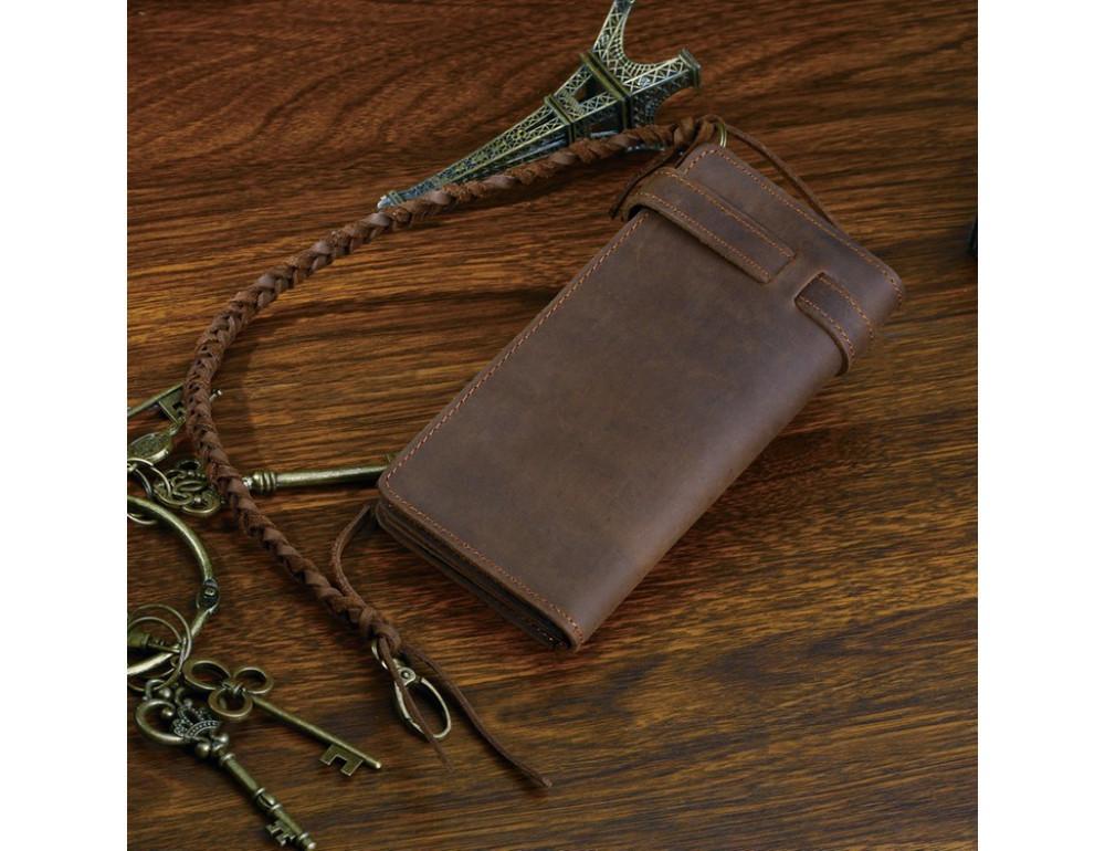 Вінтажний чоловічий гаманець TIDING BAG 8031R коричневий - Фотографія № 4