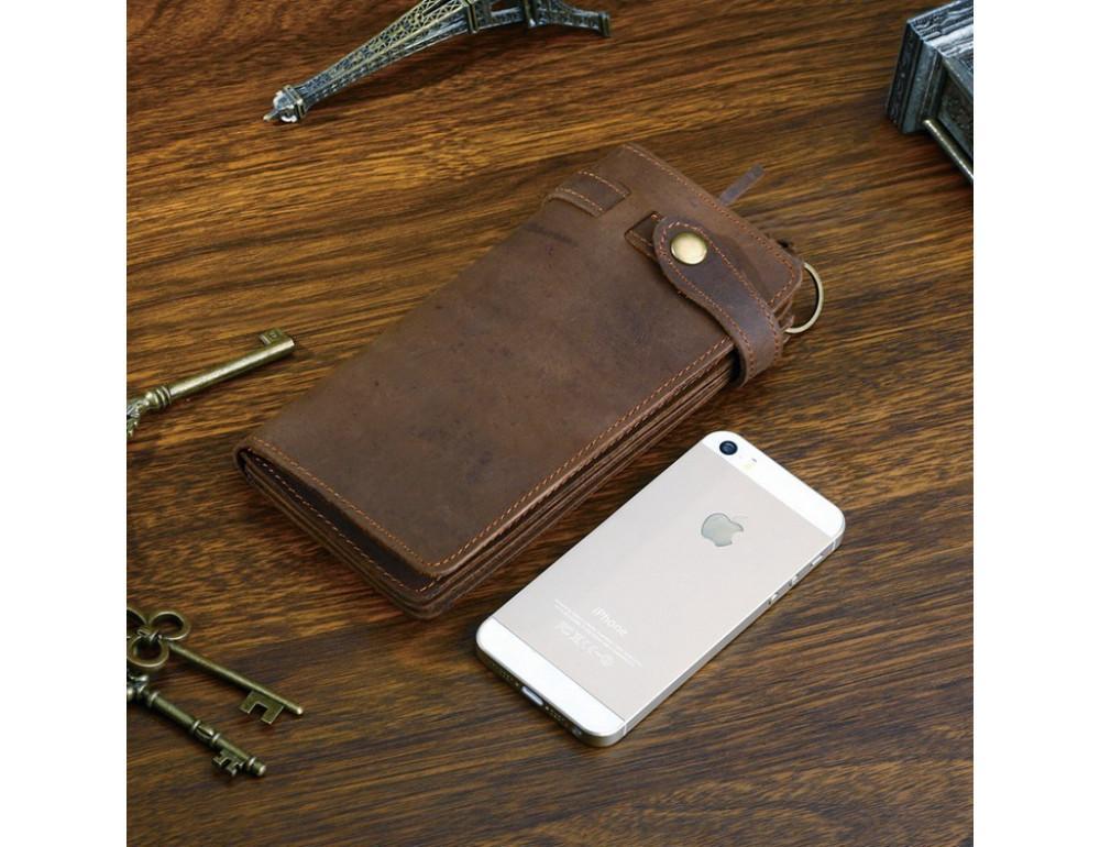Вінтажний чоловічий гаманець TIDING BAG 8031R коричневий - Фотографія № 6