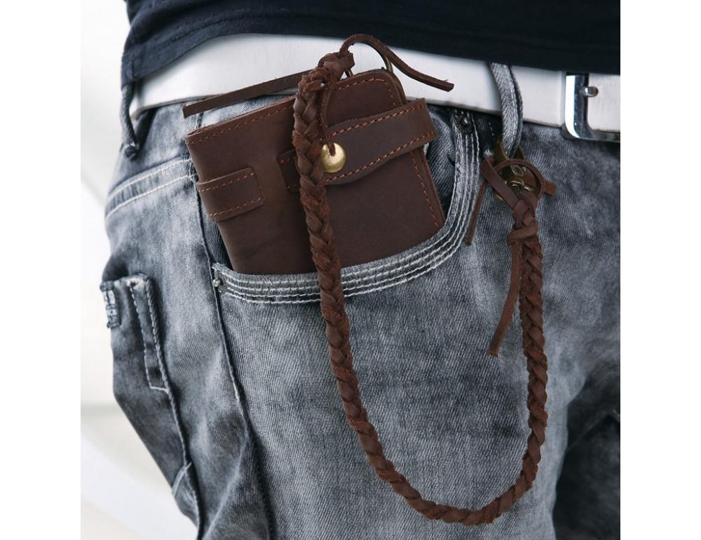 Вінтажний чоловічий гаманець TIDING BAG 8031R коричневий - Фотографія № 7
