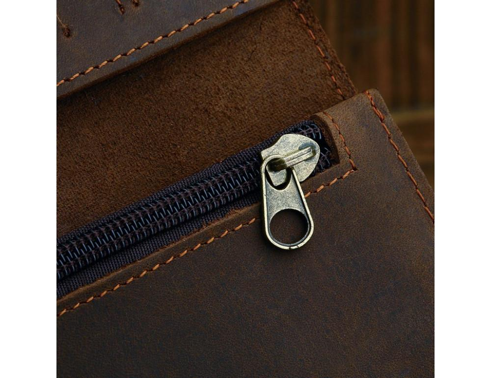 Вінтажний чоловічий гаманець TIDING BAG 8031R коричневий - Фотографія № 8