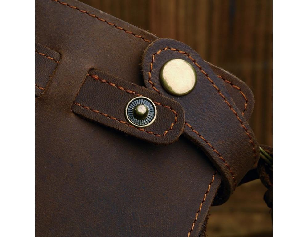 Вінтажний чоловічий гаманець TIDING BAG 8031R коричневий - Фотографія № 9
