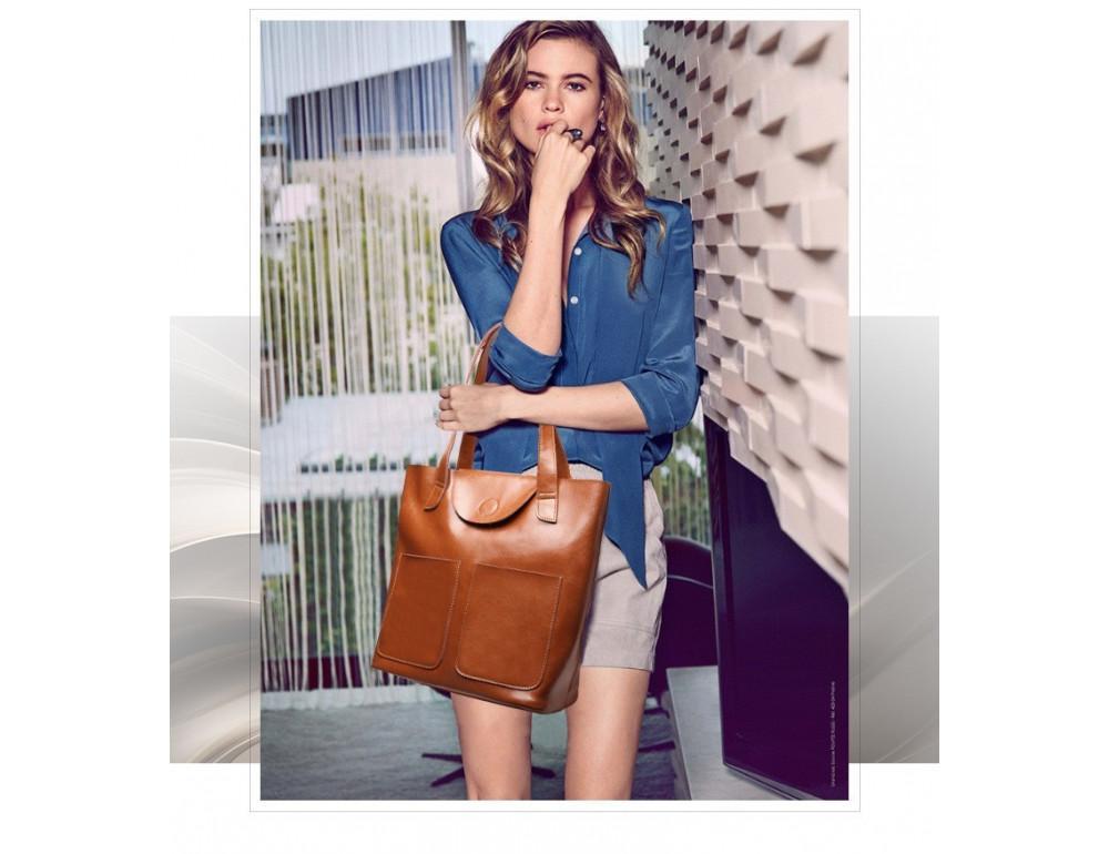 Кожаная женская сумка через плечо Grays GR-0599LB - Фото № 2
