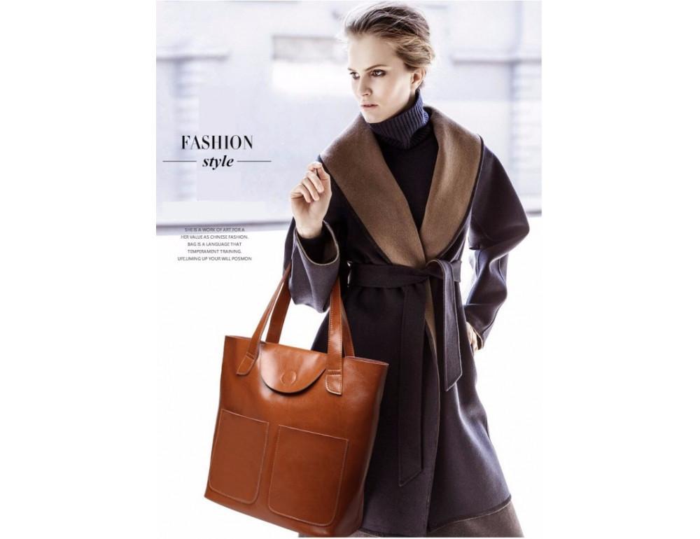 Кожаная женская сумка через плечо Grays GR-0599LB - Фото № 3