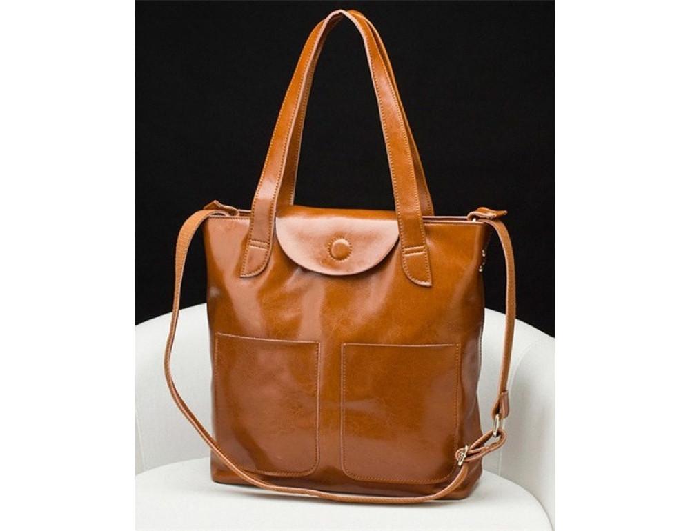 Кожаная женская сумка через плечо Grays GR-0599LB - Фото № 4