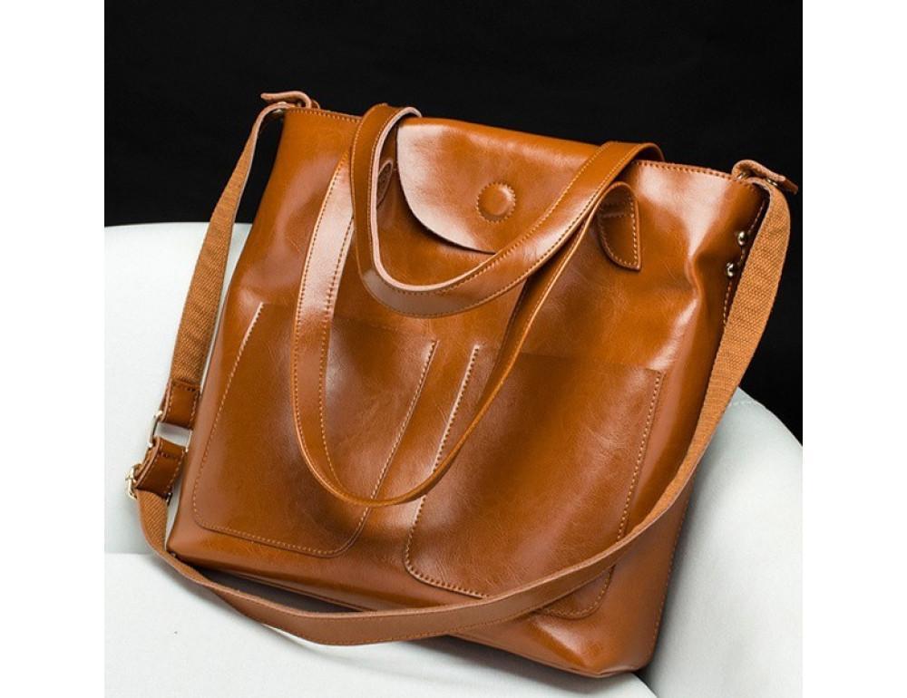 Кожаная женская сумка через плечо Grays GR-0599LB - Фото № 7