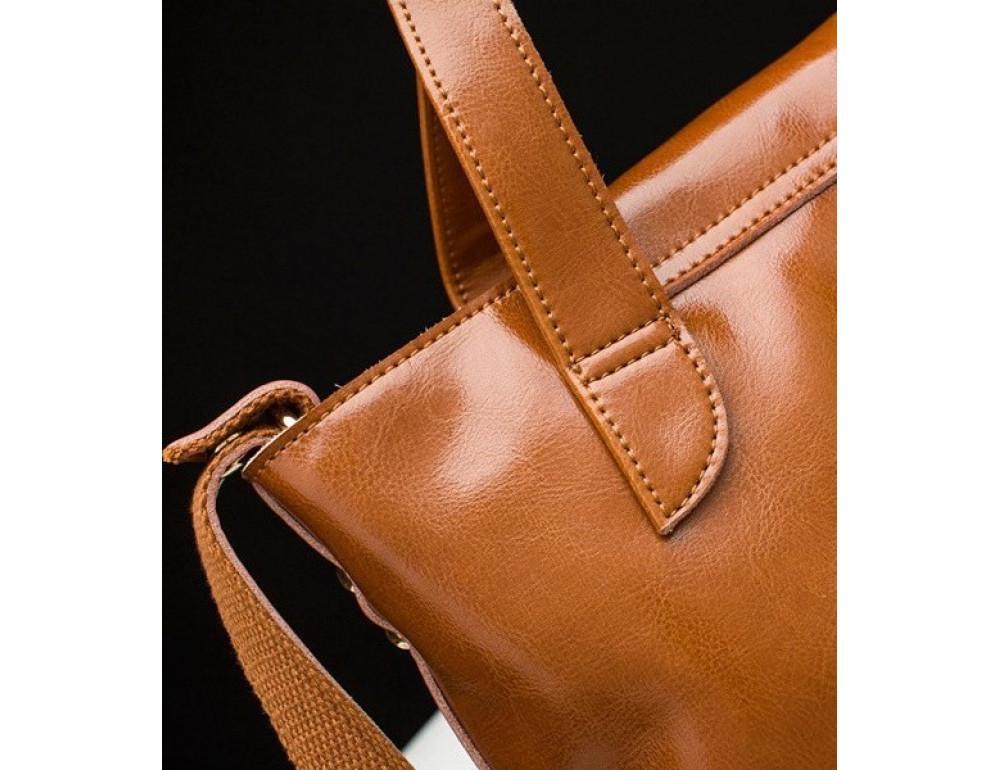 Кожаная женская сумка через плечо Grays GR-0599LB - Фото № 8