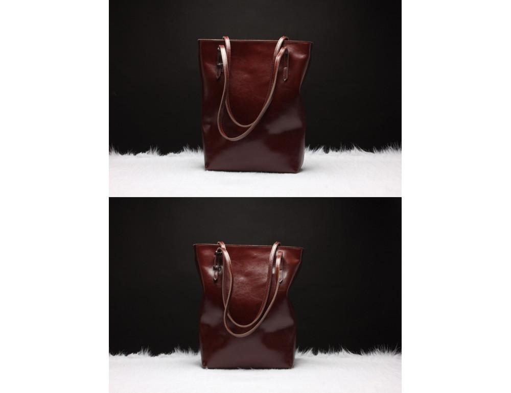 Вместительная женская сумка из кожи Grays GR-1230B - Фото № 2