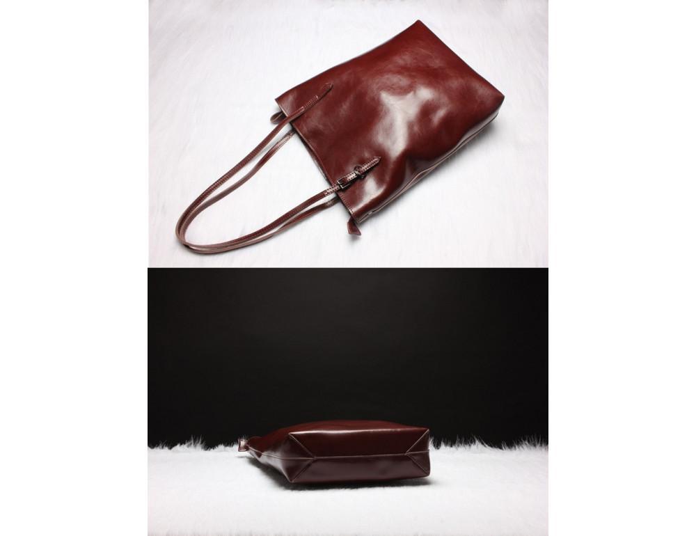 Вместительная женская сумка из кожи Grays GR-1230B - Фото № 3