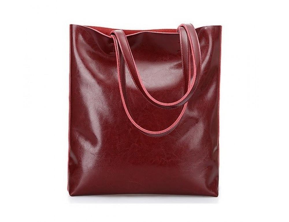 Вместительная кожаная женская сумка GRAYS GR-2002R