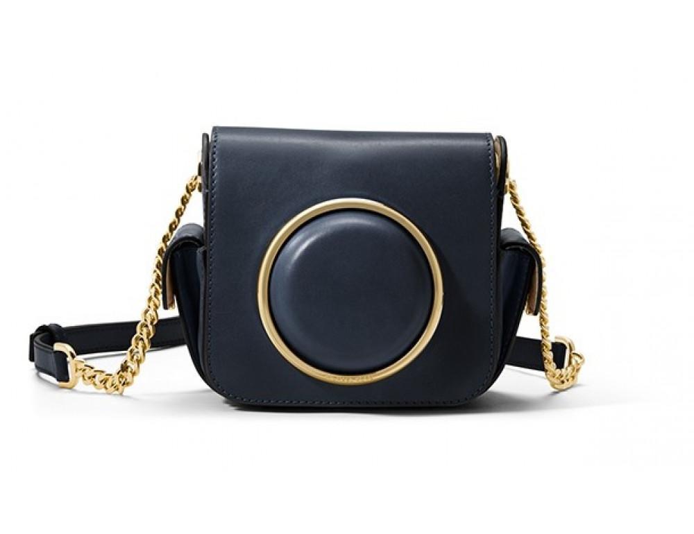 Шкіряна жіноча сумочка Michael Kors MK-8015BL синя