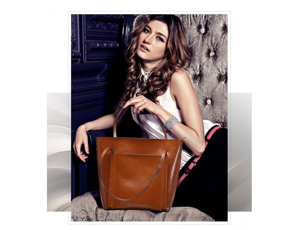 Кожаная женская сумка Grays GR-2013LB