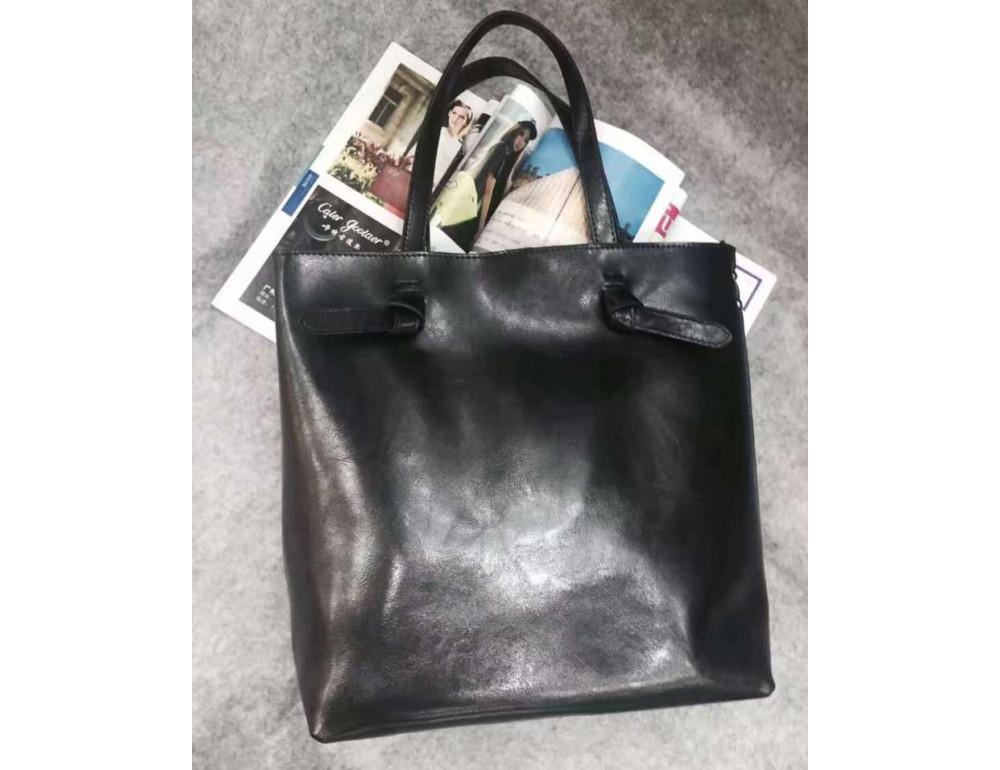 Містка шкіряна жіноча сумка GR-2005A