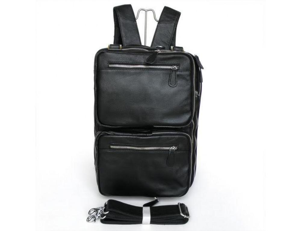 Мужская кожаная сумка - рюкзак JASPER-MAINE 7014A - Фото № 4
