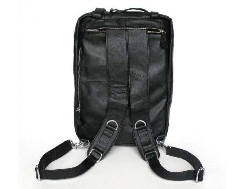 Мужская кожаная сумка - рюкзак JASPER-MAINE 7014A - Фото № 5