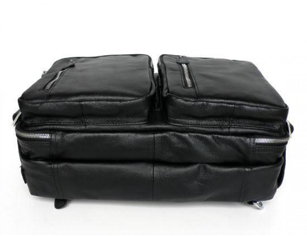 Мужская кожаная сумка - рюкзак JASPER-MAINE 7014A - Фото № 6