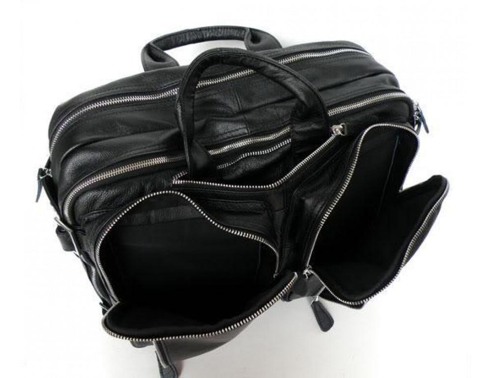Мужская кожаная сумка - рюкзак JASPER-MAINE 7014A - Фото № 7