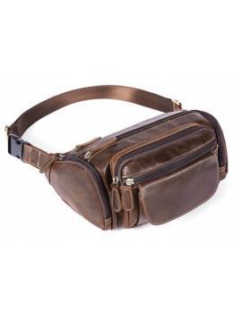 Кожаная сумка на пояс Bexhill Bx8355C коричневая