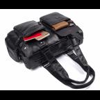 Мужская кожаная сумка TIDING BAG 8400A чёрная - Фото № 106