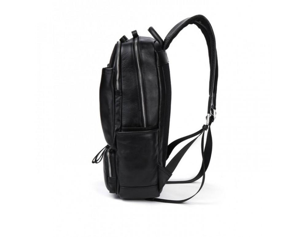 Кожаный городской рюкзак Tiding Bag B3-1697A чёрный - Фото № 7