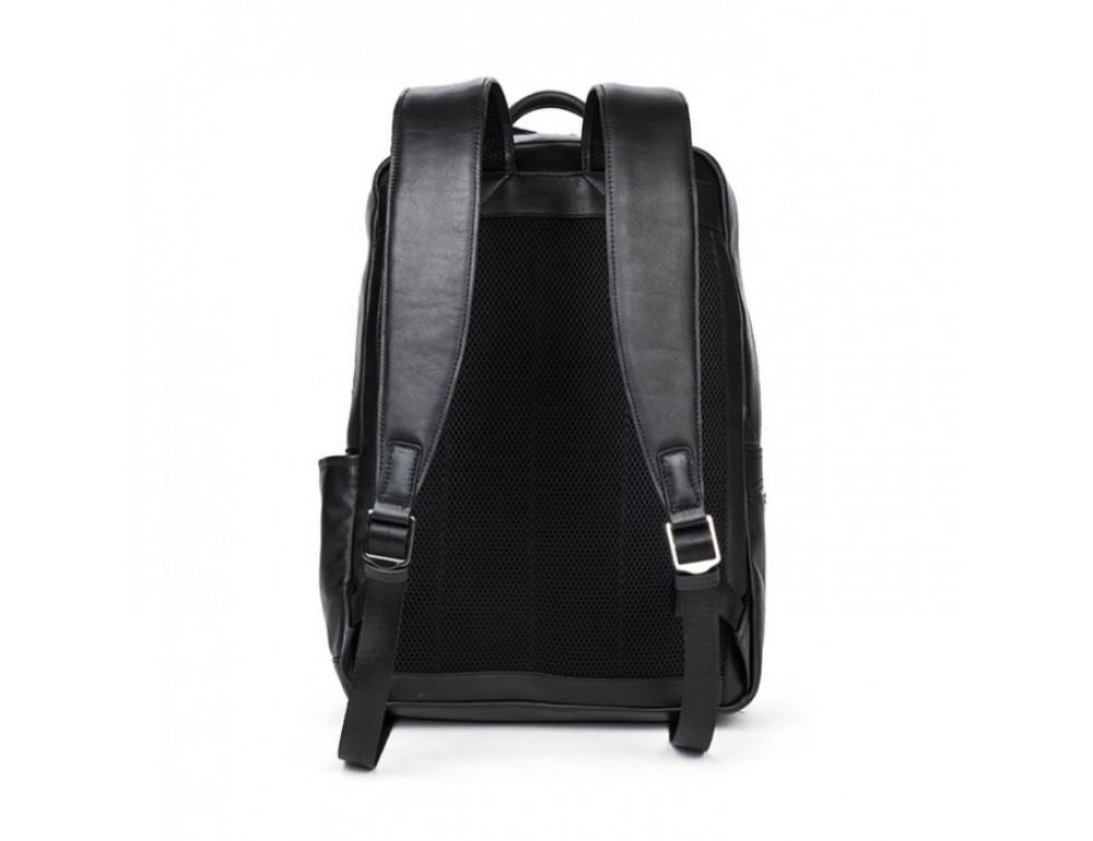 Кожаный городской рюкзак Tiding Bag B3-1697A чёрный - Фото № 8