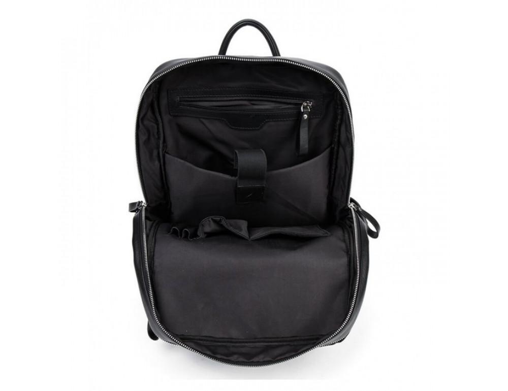 Кожаный городской рюкзак Tiding Bag B3-1697A чёрный - Фото № 11