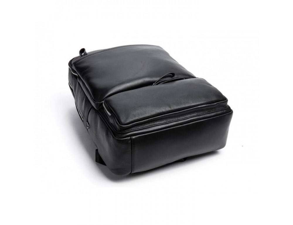 Кожаный городской рюкзак Tiding Bag B3-1697A чёрный - Фото № 12