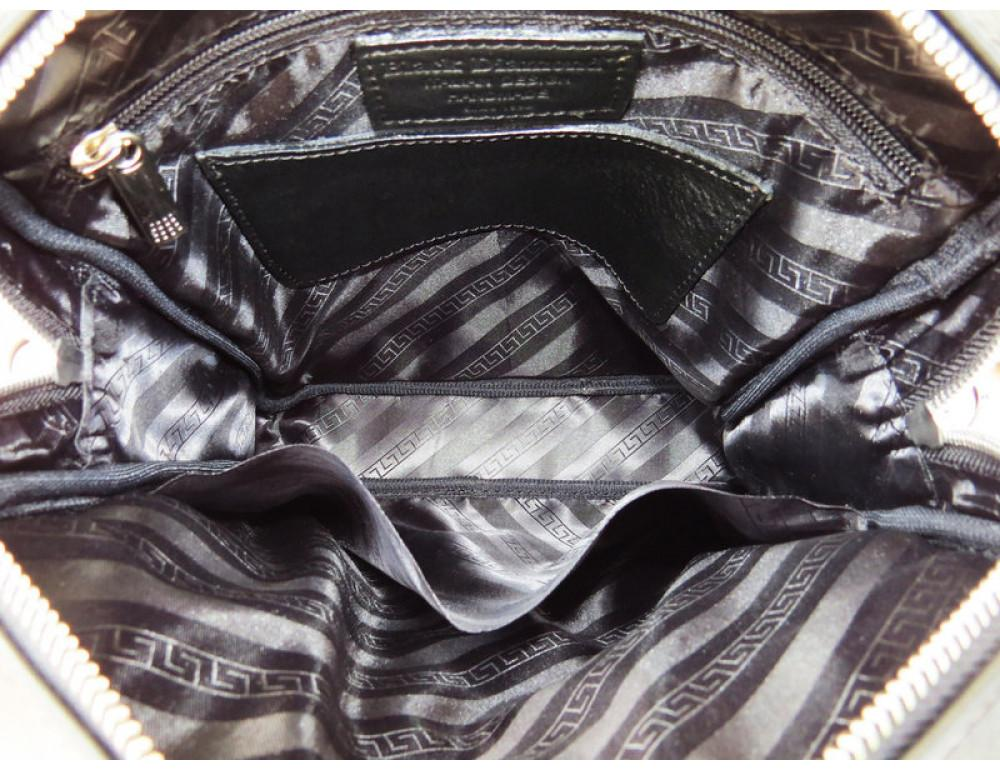 Мужская кожаная сумка-мессенджер Black Diamond BD11ATor чёрная - Фото № 8